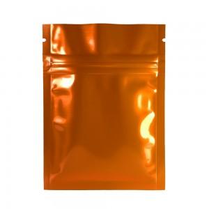Orange Shiny Metallic Mylar Ziplock Bags 6 cm x 9 cm [2.4 inches x 3.5 inches] (500 Bags/Lot)