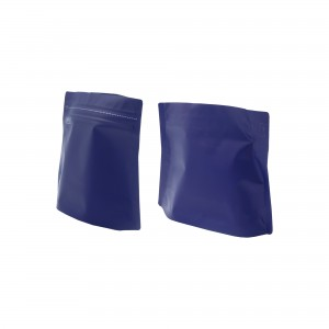 16oz Matte Purple Bottom Gusseted Coffee Storage Aluminum Bags with Pull Tab (100 Bags/Lot)