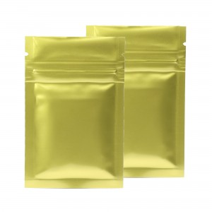 Gold Shiny Metallic Mylar Ziplock Bags 6 cm x 9 cm [2.4 inches x 3.5 inches] (500 Bags/Lot)