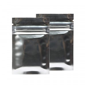 Silver Shiny Metallic Mylar Ziplock Bags 6 cm x 9 cm [2.4 inches x 3.5 inches] (500 Bags/Lot)