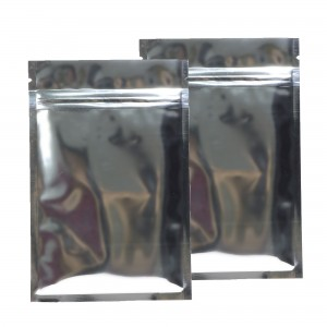 Silver Shiny Metallic Mylar Ziplock Bags 8.5 cm x 13 cm [3.3 inches x 5.1 inches] (500 Bags/Lot)