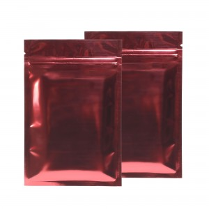 Red Shiny Metallic Mylar Ziplock Bags 8.5 cm x 13 cm [3.3 inches x 5.1 inches] (500 Bags/Lot)