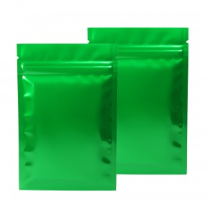 Green Shiny Metallic Mylar Ziplock Bags 8.5 cm x 13 cm [3.3 inches x 5.1 inches] (500 Bags/Lot)