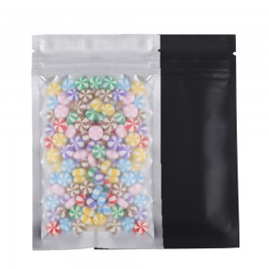 Translucent Front Black Back Mylar Foil Ziplock Bags 8.5 cm x 13 cm [3.3 inches x 5.11 inches] (500 Bags/Lot)