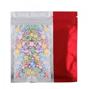 Translucent Front Red Back Mylar Foil Ziplock Bags 8.5 cm x 13 cm [3.3 inches x 5.11 inches] (500 Bags/Lot)