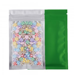 Translucent Front Green Back Mylar Foil Ziplock Bags 8.5 cm x 13 cm [3.3 inches x 5.11 inches] (500 Bags/Lot)