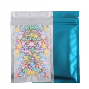 Translucent Front Blue Back Mylar Foil Ziplock Bags 8.5 cm x 13 cm [3.3 inches x 5.11 inches] (500 Bags/Lot)