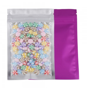 Translucent Front Purple Back Mylar Foil Ziplock Bags 8.5 cm x 13 cm [3.3 inches x 5.11 inches] (500 Bags/Lot)