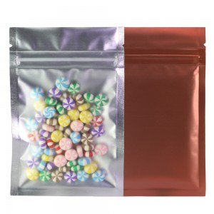 Translucent Front Brown Back Mylar Foil Ziplock Bags 8.5 cm x 13 cm [3.3 inches x 5.11 inches] (500 Bags/Lot)