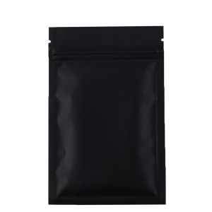 Double Sided Black Matte Metallic Mylar Flat Ziplock Bag 8.5 cm x 13 cm [3.3 inches x 5.11 inches] (500 Bags/Lot)