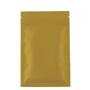 Double Sided Gold Matte Metallic Mylar Flat Ziplock Bag 8.5 cm x 13 cm [3.3 inches x 5.11 inches] (500 Bags/Lot)