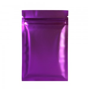 Double Sided Purple Matte Metallic Mylar Flat Ziplock Bag 8.5 cm x 13 cm [3.3 inches x 5.11 inches] (500 Bags/Lot)