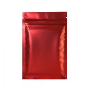 Double Sided Red Matte Metallic Mylar Flat Ziplock Bag 8.5 cm x 13 cm [3.3 inches x 5.11 inches] (500 Bags/Lot)