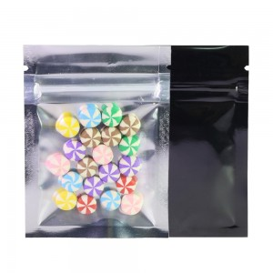 Clear Front/Silver/Black Back Flat Mylar Foil Ziplock Bags 6.5 cm x 9 cm [2.56 inches x 3.5 inches] (500 Bags/Lot)