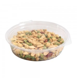 20oz Clear Plastic Bowl Container w/Flat Lid (250 Containers / Lot)