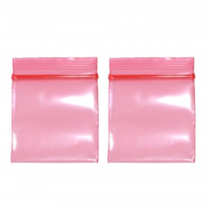 Transparent See-Thru Red Poly Plastic Flat Ziplock Bags 4 cm x 6 cm [1.5 inches x 2.3 inches] (600 Bags/Lot)