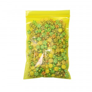 Transparent See-Thru Yellow Poly Plastic Flat Ziplock Bags 10 cm x 15 cm [3.9 inches x 5.9 inches] (500 Bags/Lot)