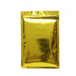 Shiny Gold Flat Ziplock Bags 18 cm x 26 cm [7.1 inches x 10.2 inches] (300 Bags/Lot)