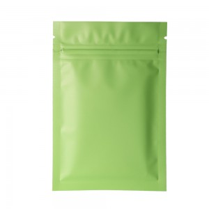 Double Sided Green Matte Metallic Mylar Flat Ziplock Bag 8 cm x 12 cm [3.1 inches x 4.7 inches] (500 Bags/Lot)