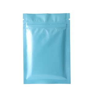 Double Sided Blue Glossy Metallic Mylar Flat Ziplock Bag 8 cm x 12 cm [3.1 inches x 4.7 inches] (500 Bags/Lot)
