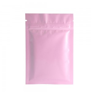 Double Sided Pink Glossy Metallic Mylar Flat Ziplock Bag 8 cm x 12 cm [3.1 inches x 4.7 inches] (500 Bags/Lot)