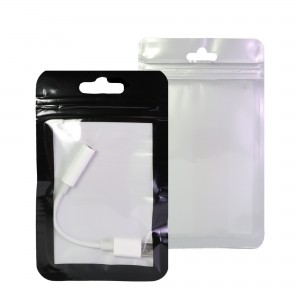 Clear, Black and White Window Design Plastic Flat Ziplock Bags with Butterfly Hang Hole 10 cm x 15 cm [4 inches x 6 inches] (500 Bags/Lot)