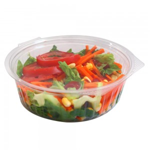 24oz Clear Plastic Bowl Container w/Flat Lid (250 Containers / Lot)