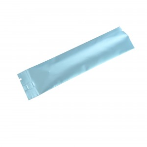 Glossy Blue Aluminum Mylar Open Filling Bag 3.5 cm x 12 cm [1.4 inches x 4.3 inches] (500 Bags/Lot)