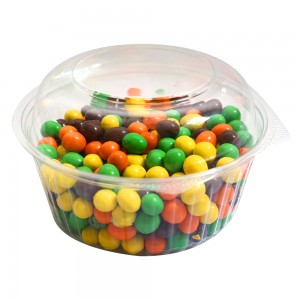 48oz Clear Plastic Bowl Container w/Dome Lid (250 Containers / Lot)