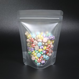 Frosted Opaque Semi-Clear Plastic Rounded Corners Stand-Up Ziplock Bags 9 cm x 13 cm [3.5 inches x 5.1 inches] (500 Bags/Lot)