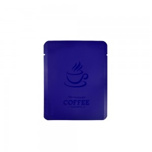 Purple Coffee Imprint Design Mylar Foil Flat Open Bottom Bags 10 cm x 12 cm [4 inches x 4.7 inches] (500 Bags/Lot)