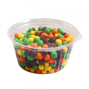 48oz Clear Plastic Bowl Container w/Flat Lid (250 Containers / Lot)