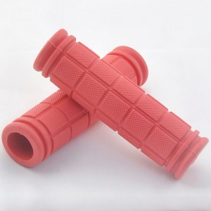 Red Comfy Non-Slip Rubber Bicycle Handle Grips (5 Pairs/Lot)