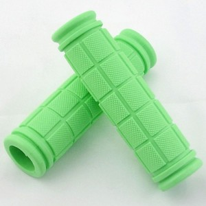 Green Comfy Non-Slip Rubber Bicycle Handle Grips (5 Pairs/Lot)