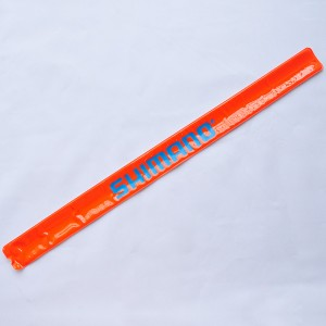 Orange/Blue Small Text Light Reflective Safety Straps Bands (5 Sets/Lot)