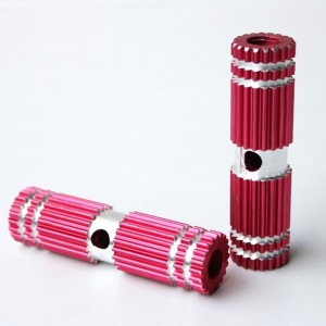 Red Mini Gear Style Design Auminum Alloy Bike Foot Pegs (5 Pairs/Lot)