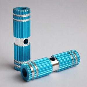Blue Mini Gear Style Design Auminum Alloy Bike Foot Pegs (5 Pairs/Lot)