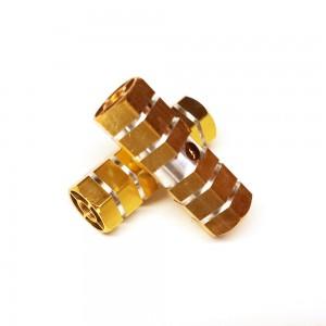 Gold Hexagonal Style Design Auminum Alloy Bike Foot Pegs (5 Pairs/Lot)