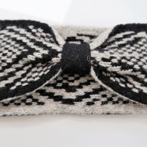 KBB Soft Lambswool Black and Gray Knotted Knitted Headband (3 Headbands/Lot)