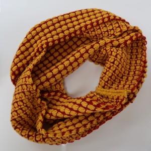 KBB Orange & Red Stripe Design Neck Warmer Snood (3 Snoods/Lot)