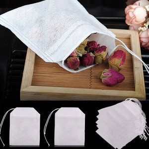 Non-Woven Empty Loose Herbs Teabag with Drawstring [2.25x3.25 (6x8cm)] (5 packs per lot)