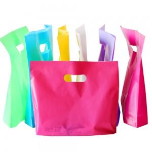 "Glossy White Reusable Bottom Gusset Die Cut Handle Bags 45 cm x 35 cm x 5 cm (17.5"" x 13.5"" x 1.75"") (400 Bags/Lot)"