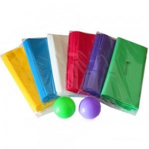 "Glossy Green Reusable Bottom Gusset Die Cut Handle Bags 27 cm x 22 cm x 3 cm (10.5"" x 8.5"" x 1"") (1200 Bags/Lot)"