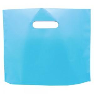 "Glossy Blue Reusable Bottom Gusset Die Cut Handle Bags 33 cm x 26 cm x 4 cm (12.75"" x 10"" x 1.5"") (800 Bags/Lot)"