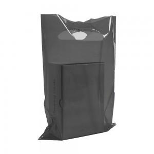 "Glossy Black Reusable Flat Die Cut Handle Bags 15 cm x 20 cm (5.75"" x 7.75"") (1900 Bags/Lot)"