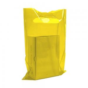 "Glossy Yellow Reusable Flat Die Cut Handle Bags 45 cm x 55 cm (17.5"" x 21.5"") (300 Bags/Lot)"