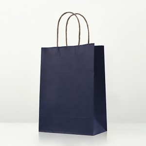 "Matte Blue Kraft Paper Merchandise Shopping Bags 21 cm x 27 cm x 11 cm (8.25"" x 10.5"" x 4.25"") (200 Bags/Lot)"