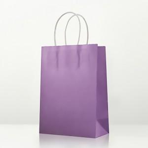 "Matte Purple Kraft Paper Merchandise Shopping Bags 25 cm x 33 cm x 12 cm (9.75"" x 12.75"" x 4.5"") (100 Bags/Lot)"