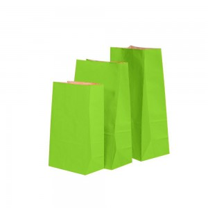 "Matte Green Kraft Paper Merchandise (Lunch/Favor) Bags 15.5 cm x 10 cm x 30 cm (6"" x 3.75"" x 11.75"") (600 Bags/Lot)"