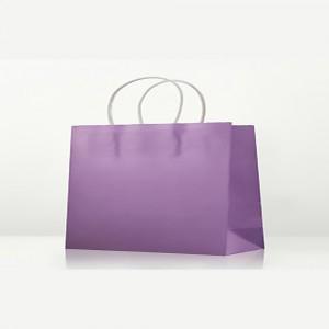 "Matte Purple Kraft Paper Merchandise Shopping Bags 32 cm x 25 cm x 11 cm (12.5"" x 9.75"" x 4.25"") (100 Bags/Lot)"
